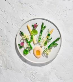 Asparagus fine dining